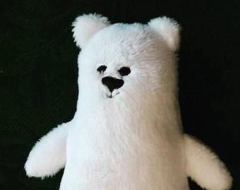 Petite Polar Bear Plushie Office Pal