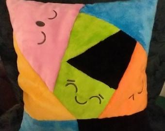 Crazy Quilt, Happy Faces Decorative Pullowt