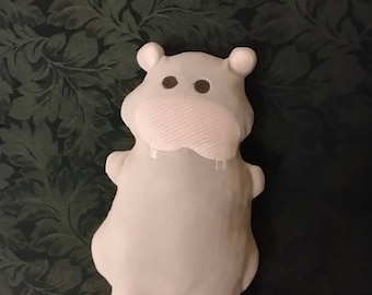 Lucy the Hippopotamus Stuffed Animal Plushie