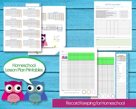 Homeschool Planner Records Attendance Budget Events Grade Etsy