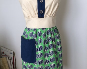 Erin  navy cream and green