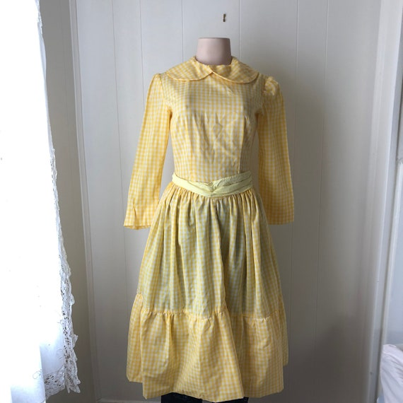 Vintage Handmade Gingham Dress