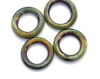 Earring hoops, enamel hoops, Handmade bead, enamel beads Rings, Enameled copper, Enamel rings, Small hoops, Earring hoop