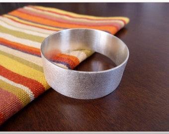 Silver Napkin Ring - Satinated