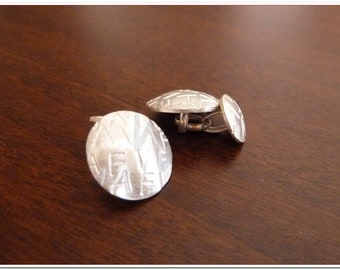 Silver cuff link - with Initials