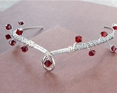 Crown of Thorns Circlet Elven Magic Ceremony Red Queen Cosplay Siam Red Swarovski Crystal