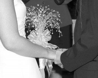 Swarovski Crystal Bead Bridal Bouquet  Swarovski Beads Wire Wrapped Stainless Steel