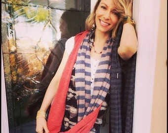 As Seen on Actress Stephanie Drapeau Fleur Necklace With Ruby Gemstone Beads