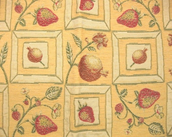 Stout Fruit Botanical Chenille Lampas Designer Fabric Sample Photograph Upholstery