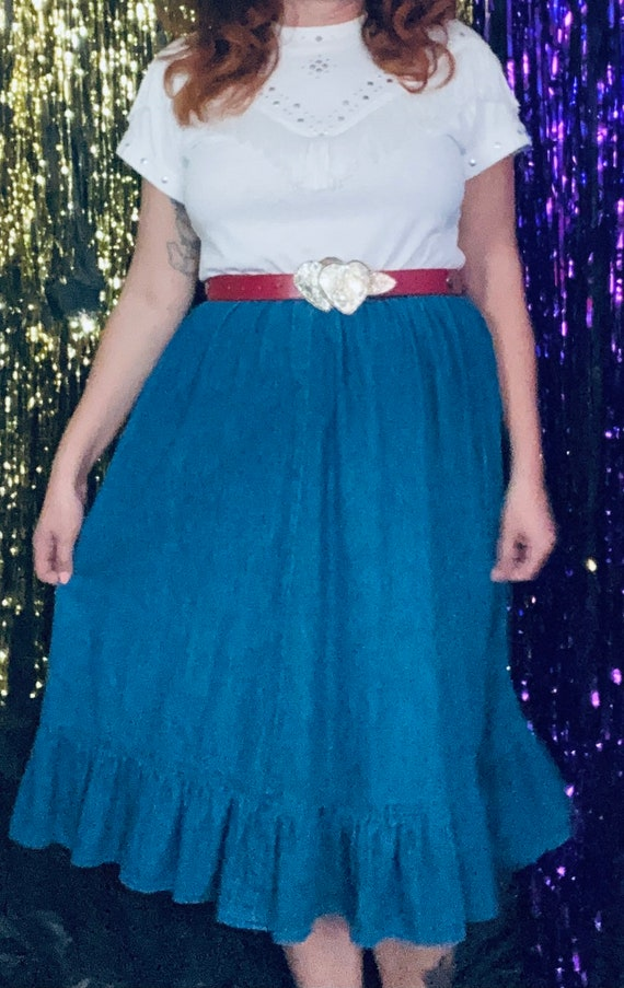 Denim western skirt - image 1