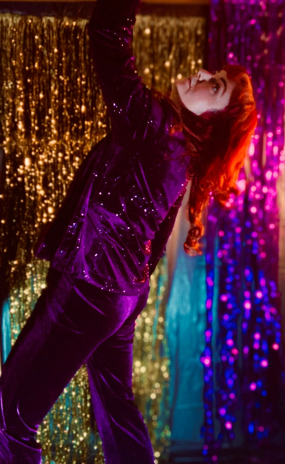 Purple Velvet Sparkly Pantsuit