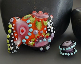 Handmade lampwork bead  l  PURE JOY  I   free-formed  l   l SRA   l  focal   l   made by Silke Buechler
