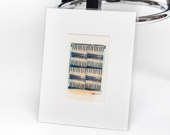 Original Polaroid transfer - Dueling piano keys