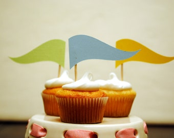 Waving Cupcake flags - Set of 12