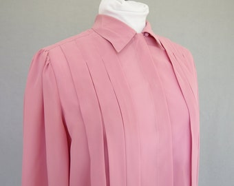 Blouse With Tucks Etsy