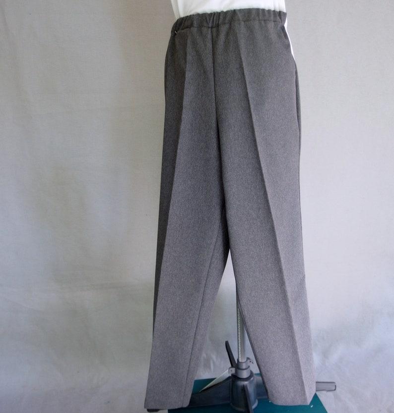 Vintage 1990/'s Donn Kenny Adjustable Waist Slacks Fits Size Small Gray Knit Pants