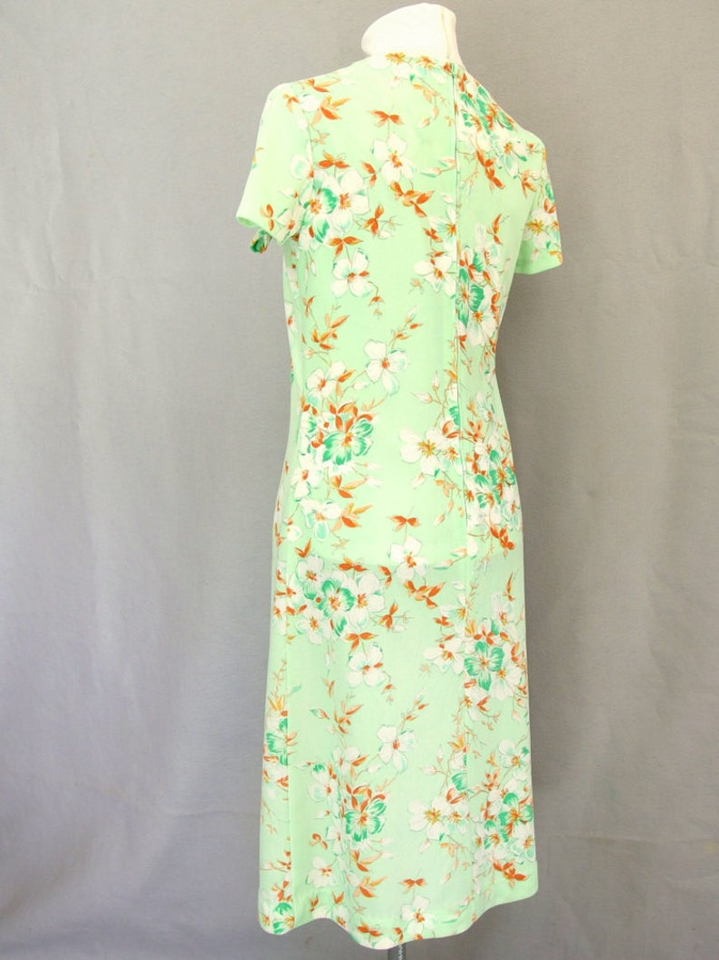 Small Vintage 1970/'s Mint Green Floral Dress and Jacket Modern Size 6 to 8