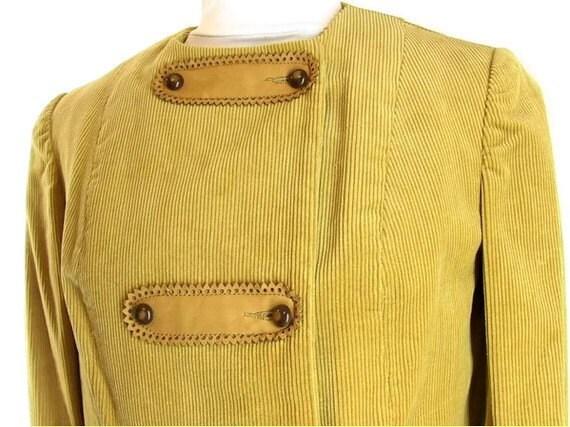 Vintage Corduroy Suit - 1970's Golden Tan Western… - image 2
