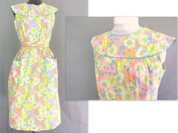 Vintage 1950's Floral Wrap Dress by Swirl, Modern