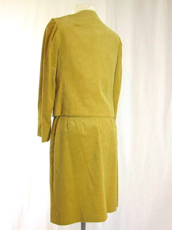 Vintage Corduroy Suit - 1970's Golden Tan Western… - image 3
