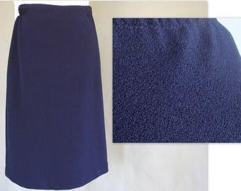Navy Blue Skirt, Vintage Talbot's Skirt, Modern Size 8, Small