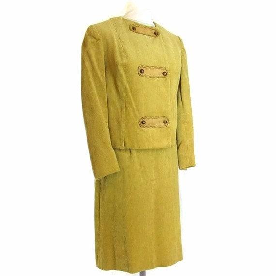 Vintage Corduroy Suit - 1970's Golden Tan Western