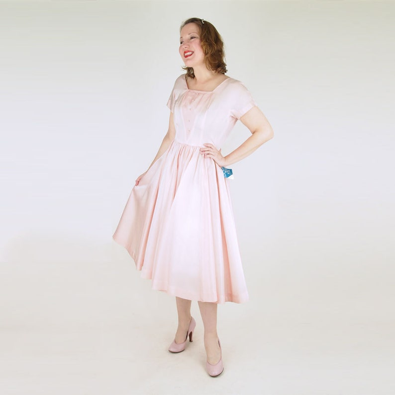 50s Pink Party Dress with Tags by Jonathan Logan S image 0