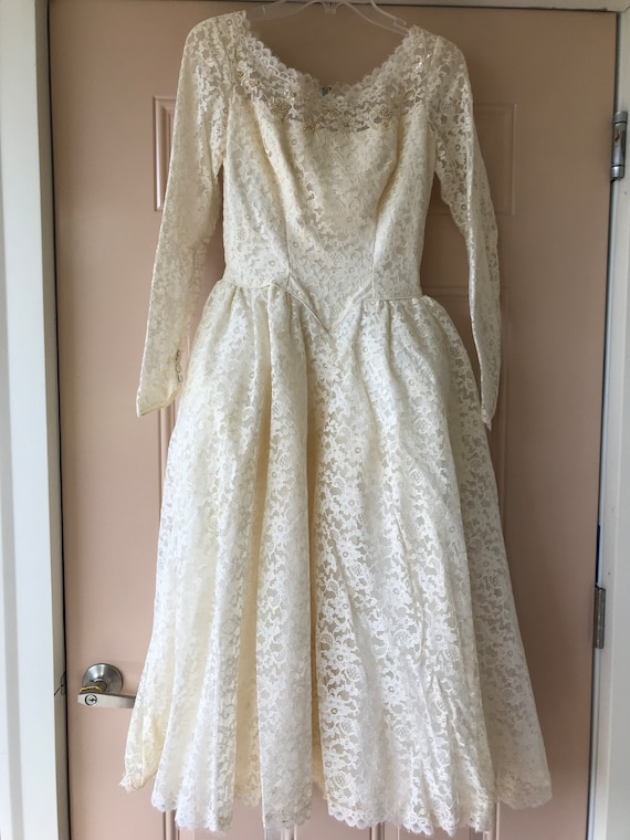Vintage Bridal Gown - 1930s  Brides Gown - Lace Br
