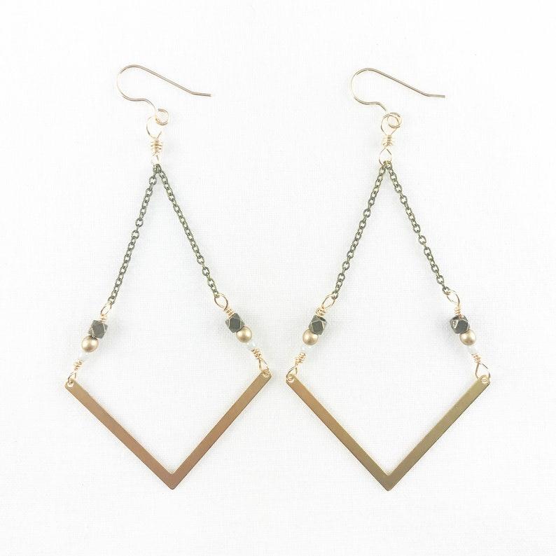 Brass Arrow Dangle Earrings  Casual  Lightweight  Dainty  image 0