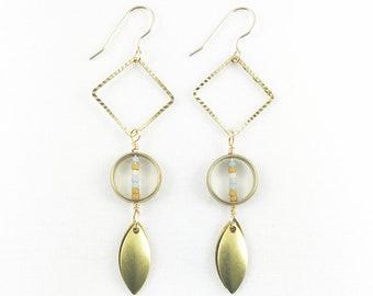Diamond, Circle, & Teardrops Dangle Earrings - Summer Fashion -Statement - Lightweight -Dainty  -Elegant - Geometric -Colorful - Great Gift!