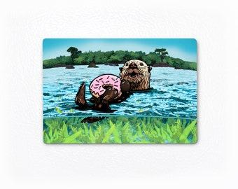 Hippopotamus On Rock Bottle Opener Fridge Magnet