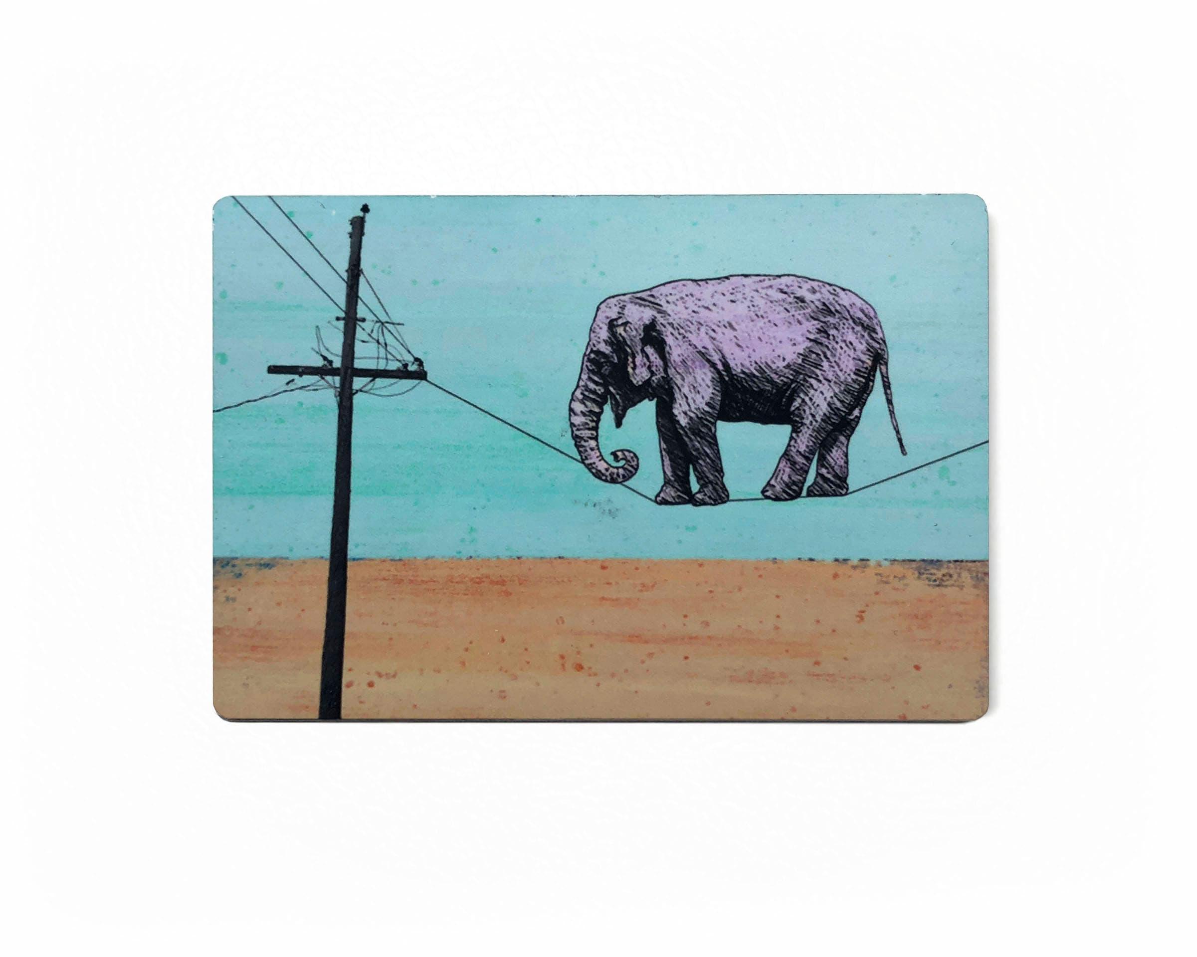 Elephant Fridge Magnet Elephant On A wire Magnet Elephant | Etsy