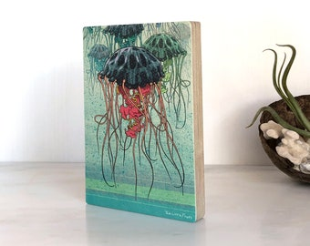 Jellyfish Wall Art, Jellyfish Print, Shelf Art, Picture Of Jellyfish, Ocean Home Decor, Ocean Lovers Gifts, Gift For Lifeguard, Sealife Art