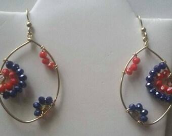 14 kt gold filled earrings