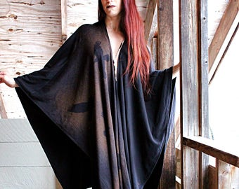 Long Murder of Crows Robe Jacket Ritual Witch Black Outerwear