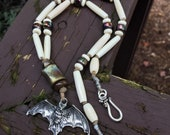 Knotted Cord Bat Bone and...