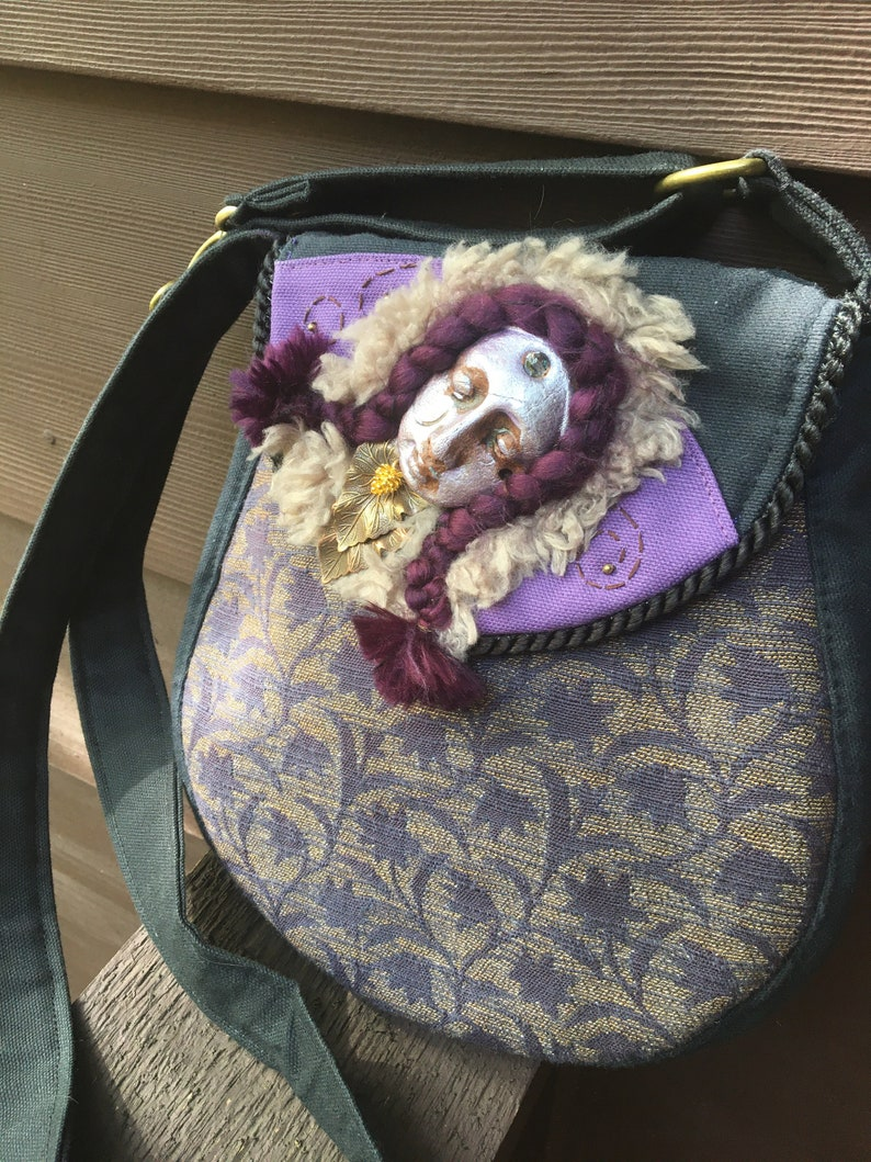 Goddess Persephone In Repose Round Purse With Adjustanle Strap image 0