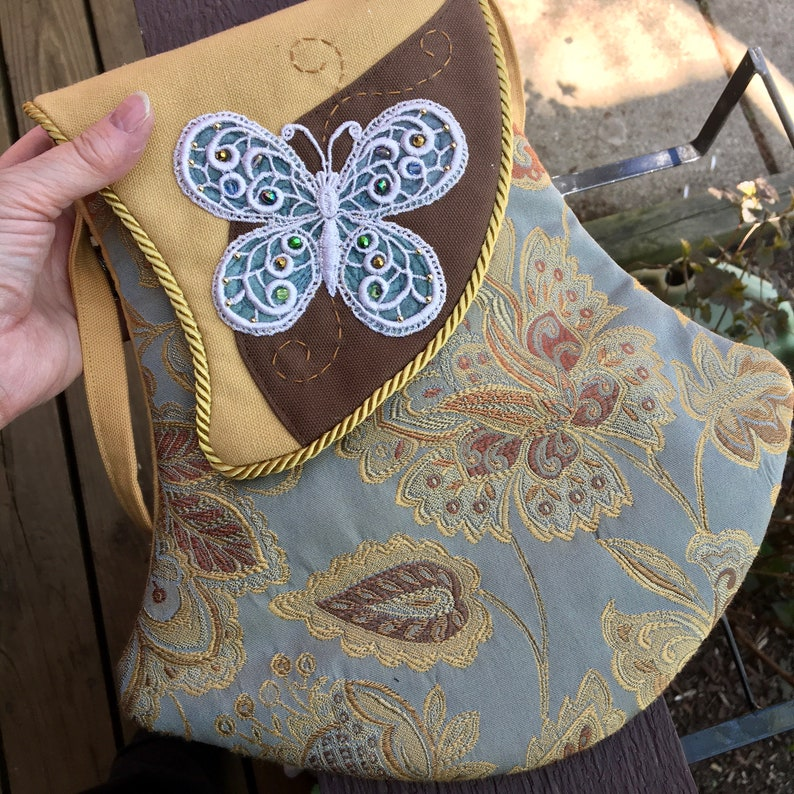 Summer Tapestry Jeweled Butterfly Bell Bag image 0