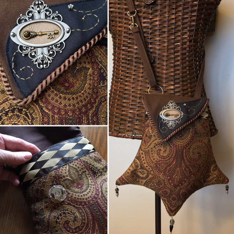 Fancy Jeweled Tapestry Pocket With Matching Back Pocket And image 0
