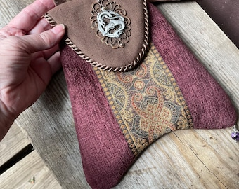 Celtic Dragon Small Tapestry Pocket With Crossbody Strap