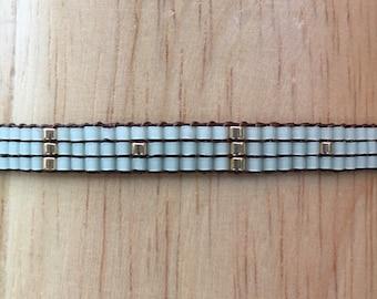 Dainty Mint Green Woven Bracelet