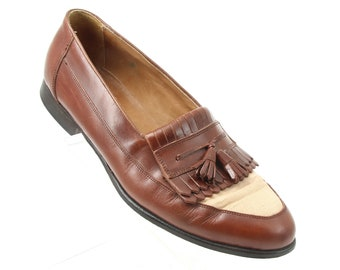 3dd06e08c48 Vintage Bostonian Brown Leather Tassel Loafers Made In Italy Men s Size 9.5  M