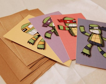 Ninja Mutant Turtle Teenagers Art Postcard Set