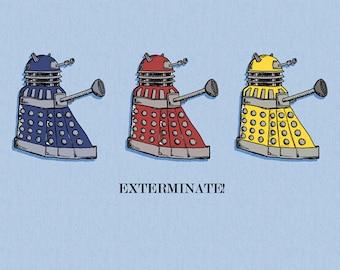 Doctor Who Art Drawing Print Illustration Dalek