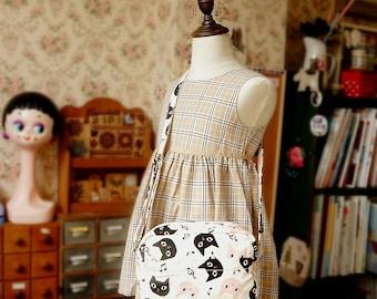 Japanese Handmade Shoulder Messenger Bag for girl and kids - Little Cat