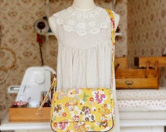 Kawaii Japanese Kokka Fabric Messenger Bag Free Shipping
