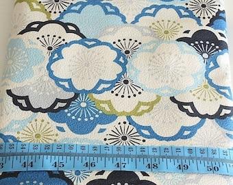 japanese traditional fabric-emboss finish sakura blue