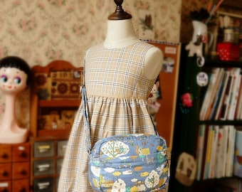 Japanese Shoulder Messenger Bag for girl and kids Handmade