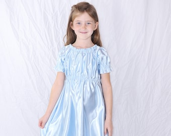 Princess Nightgown-Size 10 (or size you prefer) with Navy Blue Ribbons