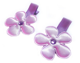 CLEARANCE Light Purple Flower Hair Clips Purple Hair Clips Purple Barrettes Baby Girl Hair Clips Lavender Baby Hair Clips Baby Clips Sale